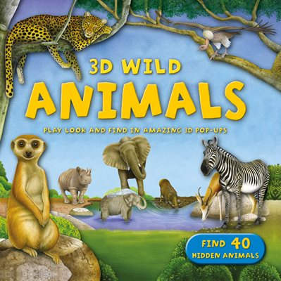 Book cover for 3D Wild: Animals